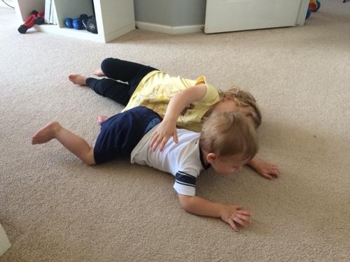Sometimes hugs look more like tackles...