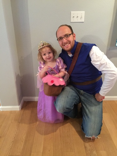 Rapunzel and Eugene/Flynn Ryder - Jaylee told Jordan what he was going to be about an hour before trick or treating